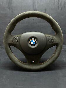BMW E90 E91 E84 E87 E93 E82 E92 Alcantara Steering Wheel Orange Stitching Sport