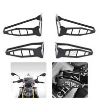 Front&Rear Turn Signal Light Cover Protector Shield For BMW F800GS S1000RR Black