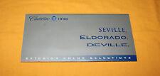 Cadillac Exterior Color 1998 Prospekt Brochure Catalogue Depliant Prospetto