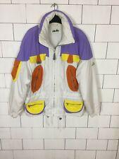 VINTAGE RETRO ELLESSE BRIGHT BOLD 90'S SKI STYLE JACKET COAT WINDBREAKER #443