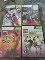 Xbox 360 kinect games lot