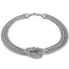 Damen Halskette Edelstahl XXL Statement Kette Schlangenkette KNOTEN Collier