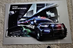 """Ford Police Poster 2019 - NEW  """"IT'S FAST & NOT JUST ON PAPER 24"""" X 34"""" + Bonus"""