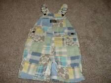 Oshkosh B'Gosh Baby Boys Plaid Hibiscus Shortalls Size 18 Months 18M 12-18 mos