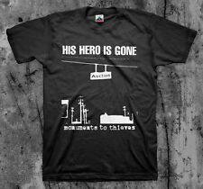 HIS HERO IS GONE 'Monuments To Thieves' T shirt (Tragedy Death Threat Hellshock)