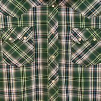 Wrangler Men's Shirt Size XL Long Sleeve Pearl Snap Western Plaid Blue Green