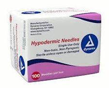 """100/Box Hypodermic Needles 23G x 1 1/2"""", # 6971, Dynarex, Exp 11/2020"""