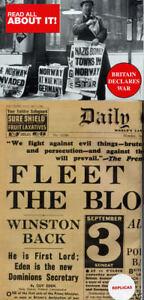 Britain Declares War replica Newspaper
