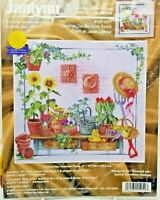 Counted Cross Stitch Celestial Garden Work Bench Janlynn #125-254 15x14 inches