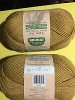 Yarn Bernat So Soft / Worsted 100% Acrylic 5oz 2skeins Barley