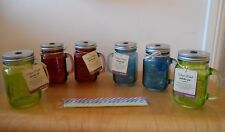 Kitchen Craft Home Made Coloured Glass Drinks Jar with Straw Set of 6