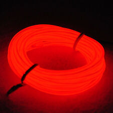 9ft Red Neon Glowing Strobing Electroluminescent Wire (El wire) 9 feets 3m