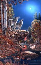 JIM HANSEL S/N LARGE  Wolf Print Duet
