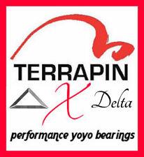 2 Terrapin X Delta 10 Ball DryPlay  YoYo Bearings - Centering  Size C - ABEC-5