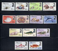 MAURITIUS 1972-4 FISH Sc 344a-56a (minus 5 low vals) NH