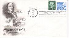 1972 Benjamin Franklin Speciale 7 Cent Educativo Frequenza Arte a Vapore FDC
