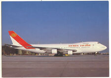 Air INDIA Airlines Boeing 747-212B Postcard