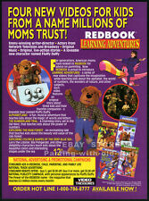REDBOOK LEARNING ADVENTURES__Original 1994 Trade Print AD promo__Fluffy Duffy
