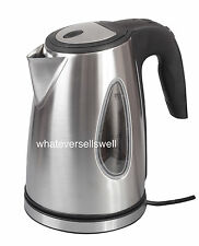 LOW WATTAGE 1.7ltr STAINLESS STEEL ELECTRIC CORDLESS camping caravan KETTLE fizz
