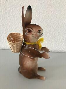 Candybox gr. Osterhase Eastern Pappmache 26 cm befüllbar Süßigkeiten gelbes Band