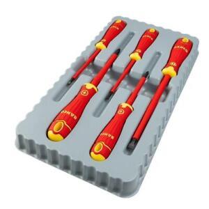 BAHCO FIT 5 Piece Pozi Pz & Slot VDE 1000V Insulated Screwdriver Set - B220.015