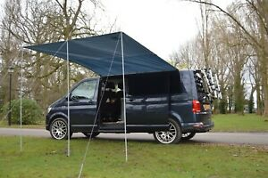 Sun Canopy Awning For VW Camper Van Motorhome Camper Car 2.4m x 3m MEDIUM GREY