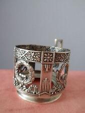 Ancien porte verre argent massif antique glass holder sterling silver Glashalter
