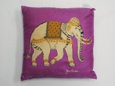 """""""Jim Thompson Fuchsia Silk 'Thai Elephant' Pillow"""""""