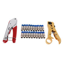 Coax Cable Crimper Kit Coaxial Tool &F Compression Connector for Rg6,Rg59