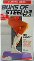 """New Sealed """"Buns of Steel"""" Step Aerobics 2000 VHS 1993 Workout Tamilee Webb"""