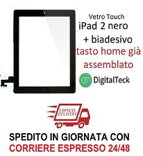 TOUCH SCREEN Apple iPad 2 WiFi 3G VETRO TASTO HOME MOD. A1395 A1396 A1397 NERO