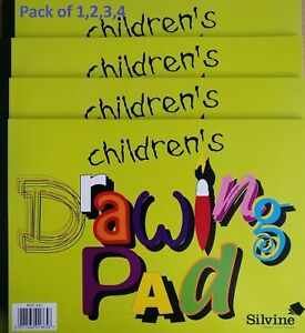 NEW-CHILDREN DRAWING PAD - Sketch Art Artist Paper Book In Pack of 1,2,3,4