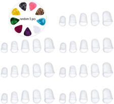35 Pcs Guitar Silicone Finger Protector, Clear Fingertip Protection Covers Caps