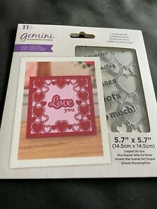 GEMINI LOVING FRAME STAMP AND DIE COLLECTION CRAFTERS COMPANION.