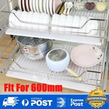 600mm Pull out Wire Pantry Drawer Basket Slide Roll Kitchen Storage Tray Cabinet