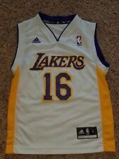 Pau Gasol Los Angeles Lakers NBA Basketball White Home Jersey Adidas Youth  Small d259a4594
