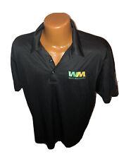 NWOT Waste Management Employee Black Polo Golf Shirt Size Large