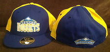 Denver Nuggets NEW ERA 59FIFTY Fitted Hat NBA Blue/Yellow Throwback Size 7 1/8