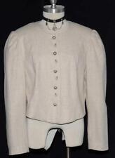 "BEIGE LINEN & COTTON JACKET Women German Fitted Summer Suit Coat 44 12 M B42"""