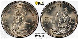 1979 Lesotho 50 Lisente - Moshoeshoe II - PCGS MS66 (Top Pop!)