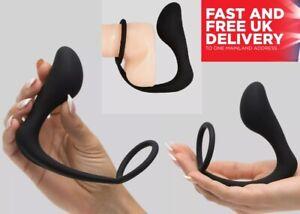 Vibrating Anal Butt Plug Cock Ring Prostate Vibrator Massager Adult Sex Toy UK