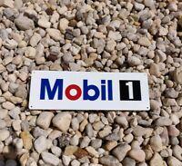 Mobil 1 One Oil Gas Garage Shop Man Cave Dealer Service METAL SIGN 4x12 50197