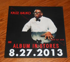 Krizz Kaliko Son of Sam Poster 2-Sided Flat 2013 Promo 12x12 Rap Tech N9ne RARE
