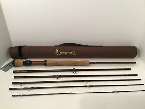 Browning Blacksmith Fork Graphite 9' 6-Piece Fly Rod With Sleeve And Case BF9086