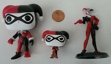 Loose Lot 3 DC Batman Harley Quinn Figures - Funkoverse, Funko Pocket, Monogram