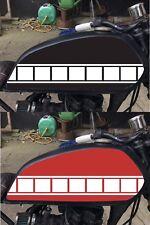 Blanco 3 X 580 mm Yamaha Adhesivos Calcomanías Kits De Raya Bloque de velocidad gráficos