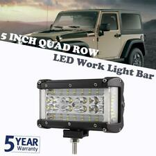 Quad Row 5Inch 308W LED Work Light Bar Side Shooter Combo Offroad Driving Lamp