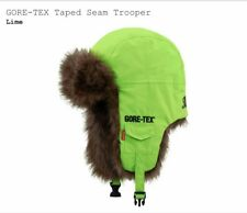 """Supreme GORE-TEX Taped Seam Trooper Hat """"LIME"""" FW18 WEEK-17 FAST SHIP"""