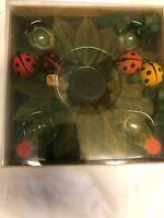 Vintage Selecta Spielzeug Lady-bugs Game Wooden Ladybug Dice