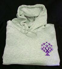 Domestic Violence Sweatshirt XL Purple Ribbon Tree Heart Awareness Hooded New